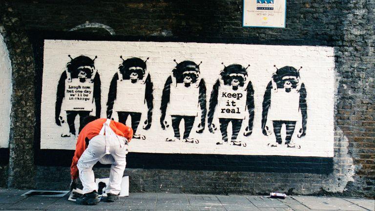 Banksy Captured. Pic: Steve Lazarides