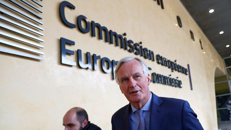 The EU's chief Brexit negotiator Michel Barnier has said talks were intensifying 'in a constructive spirit'