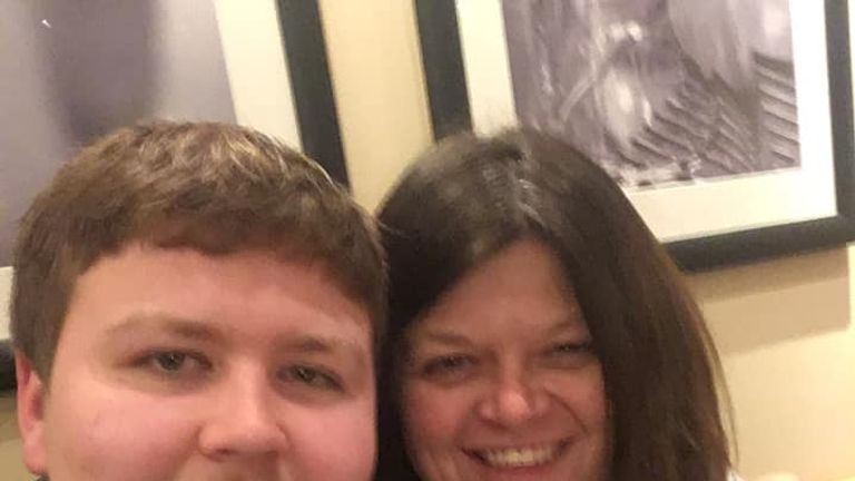 Ben Gilham-Rice pictured with his mother. Pic: Facebook