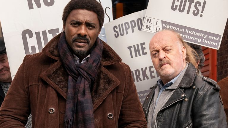 Idris Elba and Bill Bailey in In The Long Run. Pic: Sky UK