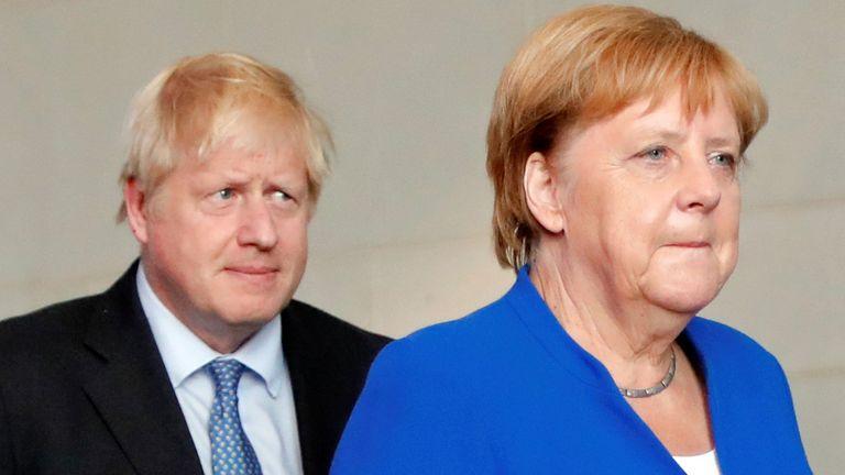 Boris Johnson and Angela Merkel spoke on the phone this morning