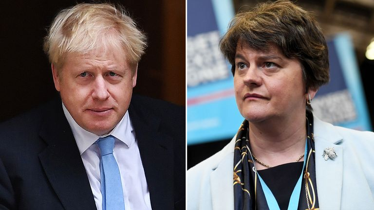Boris Johnson and Arlene Foster. Pics: Andy Rain/James Veysey/Shutterstock