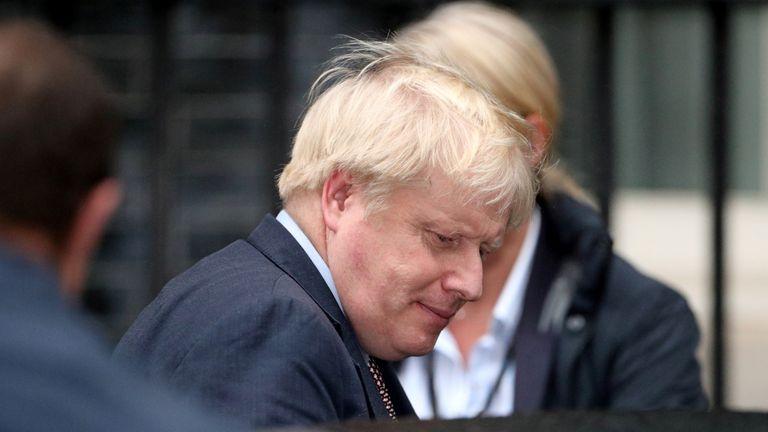 Boris Johnson is seen outside Downing Street