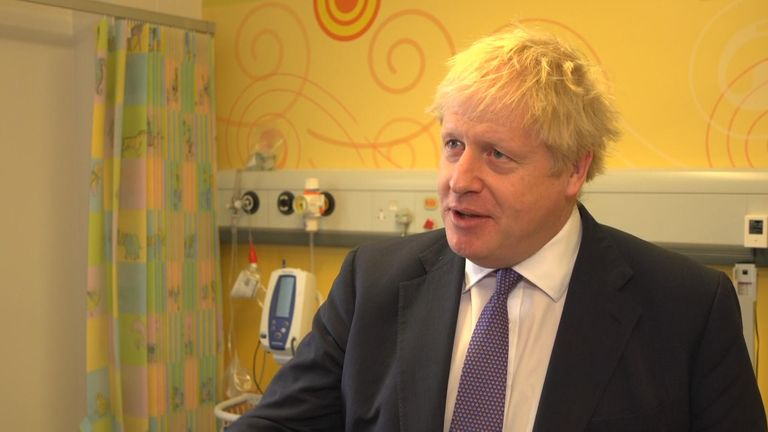 Boris Johnson has reiterated his challenge to the Labour leader Jeremy Corbyn to support a general election on 12 December and not engage - as he put it - in pointless Brexitology in Parliament.