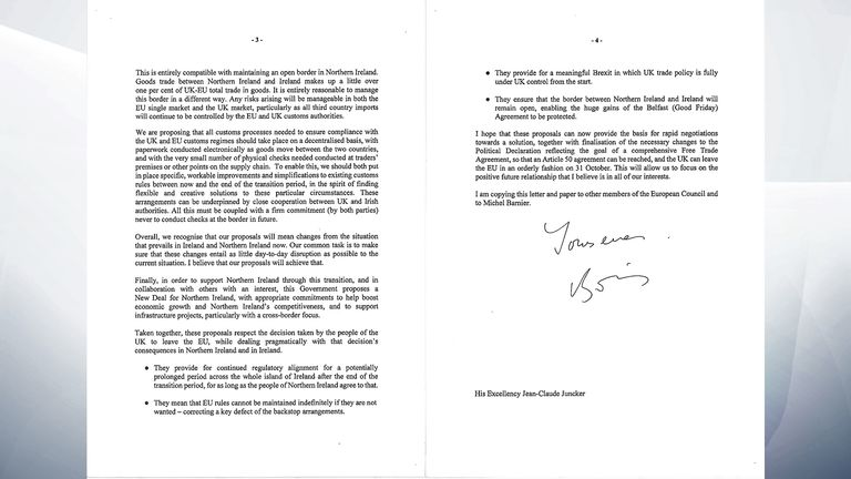 Boris Johnson's letter to Jean-Claude Juncker