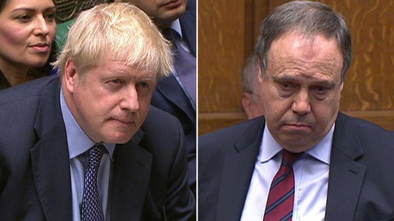 Boris Johnson and Nigel Dodds