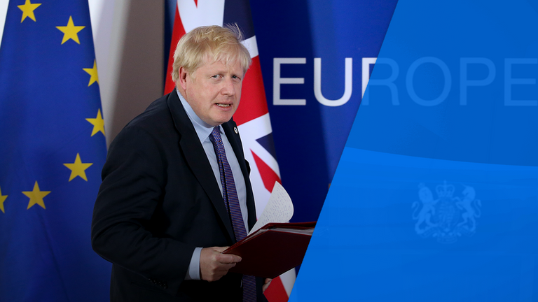 It was the last EU summit Mr Johnson will attend as the head of a member state