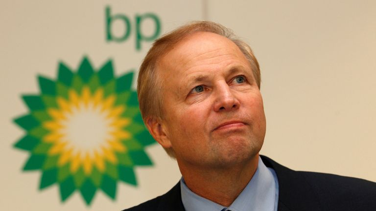 BP's Chief Executive Bob Dudley speaks to the media after year-end results were announced at the energy company's headquarters in London February 1, 2011