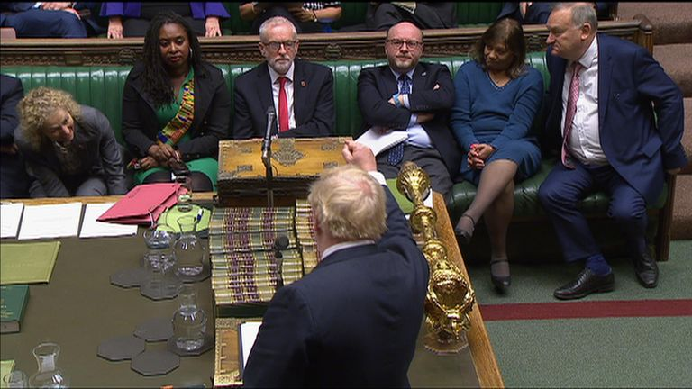 Prime minister Boris Johnson has accused Jerermy Corbyn of running away from a general election