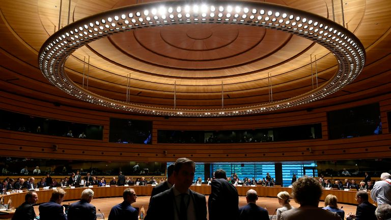 Brexit talks also continued until late in Luxembourg