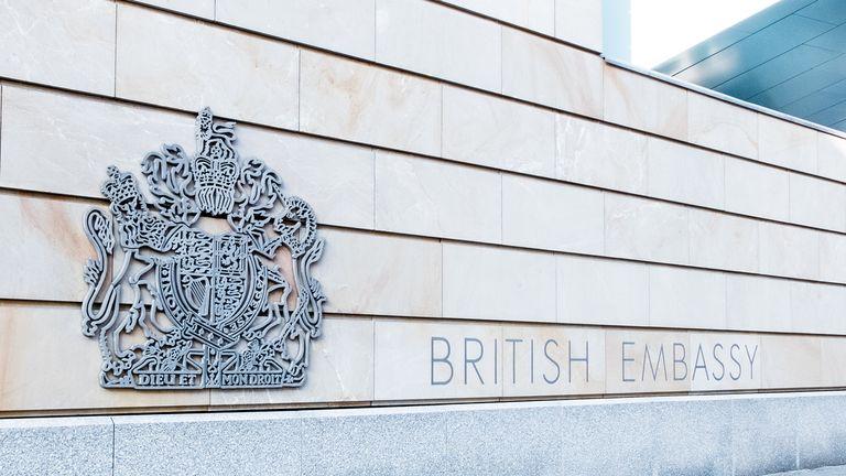 A British embassy
