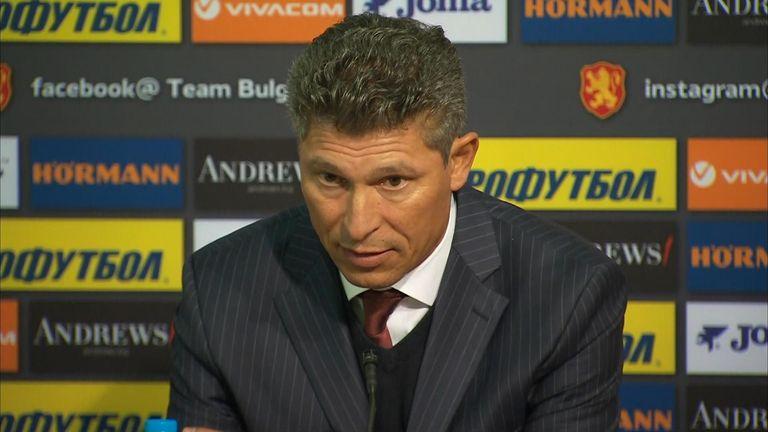 Bulgaria head coach Krasimir Balakov says he did not hear any racist chanting during Monday's match against England