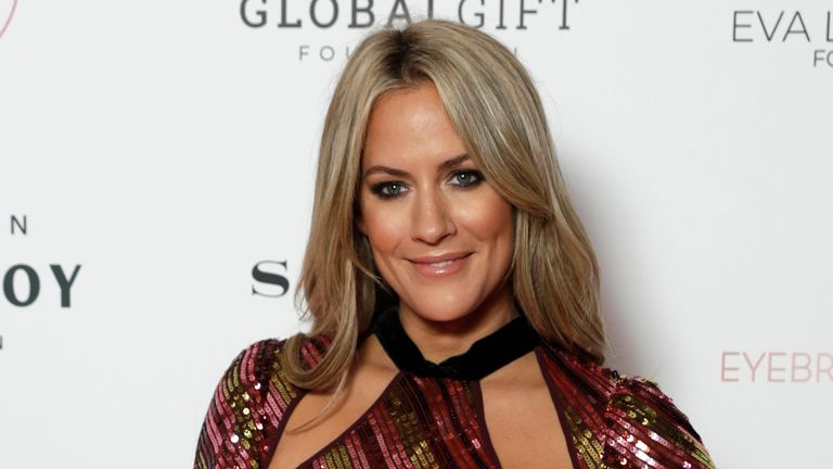 Caroline Flack attends the annual Global Gift Gala London at Kimpton Fitzroy Hotel on October 17, 2019 in London, England