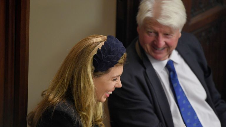 Carrie Symonds and Stanley Johnson
