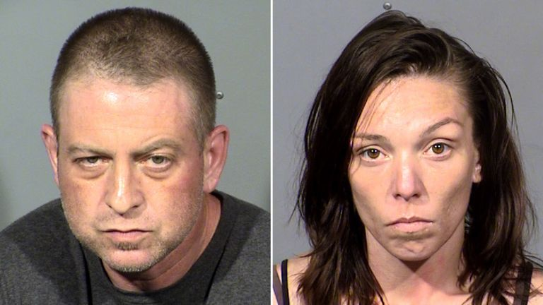 Christopher Prestipino and Lisa Mort remain in custody. Pic: Las Vegas Metropolitan Police Department