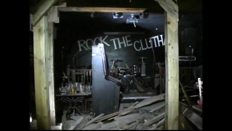 CCTV shows exterior and interior of Clutha pub after helicopter crash