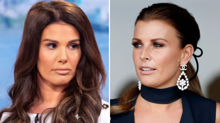 Coleen Rooney (right) has accused Rebekah Vardy (left) of passing stories to the press. Pic: Ken McKay