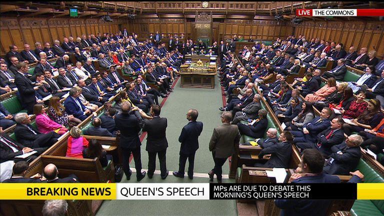 MPs begin debating Queen's Speech in Commons