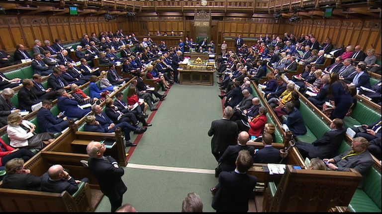 Boris Johnson speaks during the debate