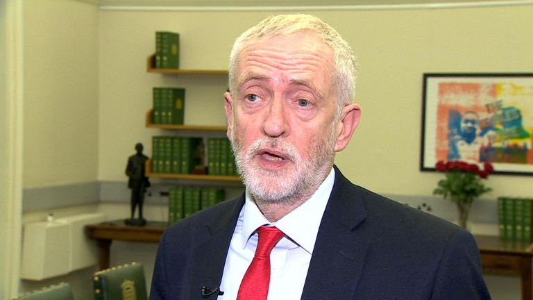 "In an interview, the Labour leader said: ""Take no-deal off the table and we absolutely support a general election''"