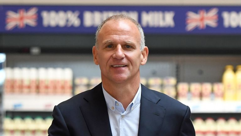 Tesco chief executive Dave Lewis, at the new Jack's store in Chatteris, Cambridgeshire, Wednesday September 19, 2018