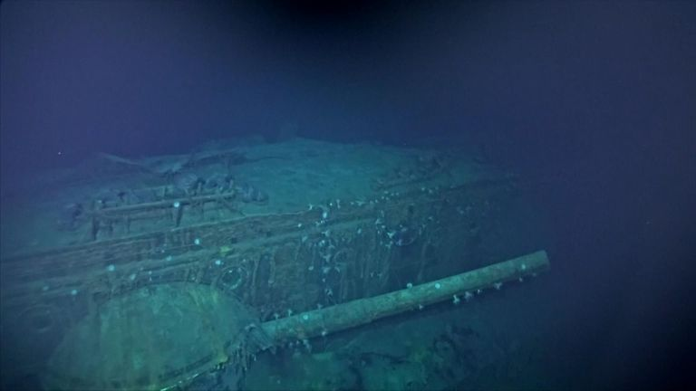 Scientists used underwater robots to film the shipwreck