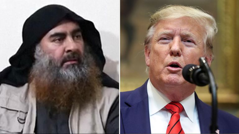 Donald Trump has confirmed the Islamic State leader's death