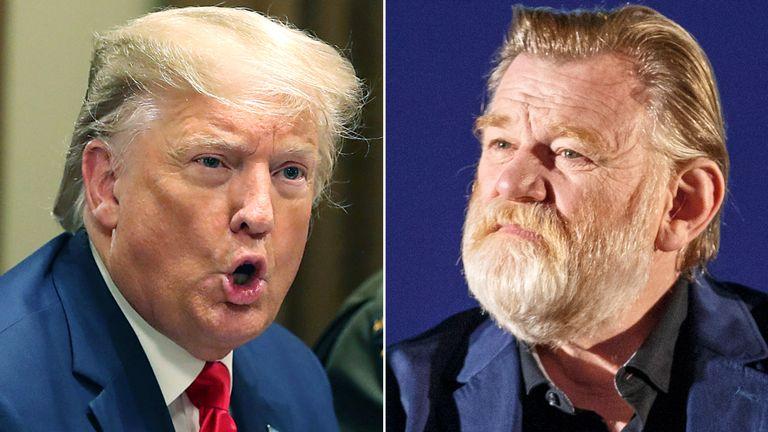 Donald Trump and Brendan Gleeson