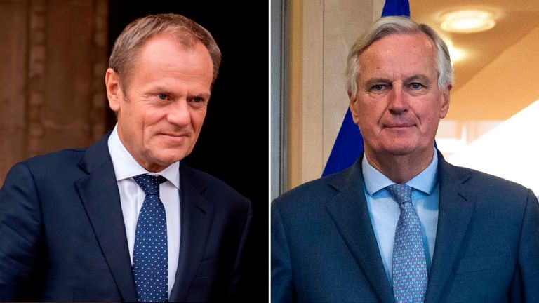 Donald Tusk and Michel Barnier