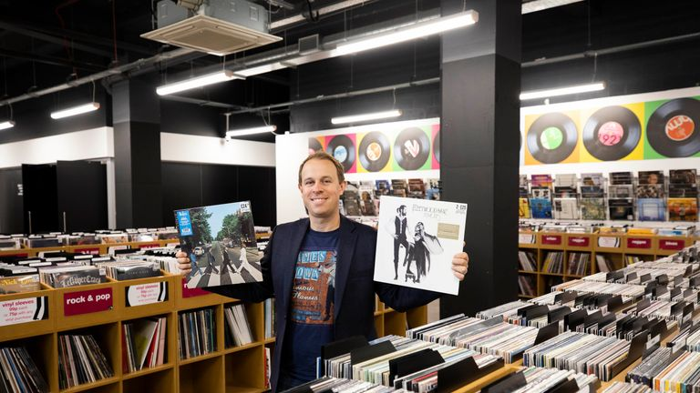 EDITORIAL USE ONLY..Owner of HMV Doug Putman ahead of tomorrow's official launch event of the hmv Vault in Birmingham