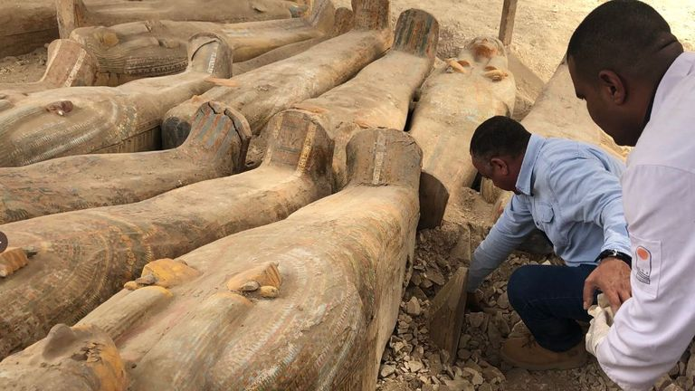 The find includes , includes tombs dating back to the Middle, New Kingdom and the Late Periods