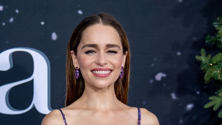 "Emilia Clarke attends the ""Last Christmas"" New York Premiere at AMC Lincoln Square Theater on October 29, 2019 in New York City"