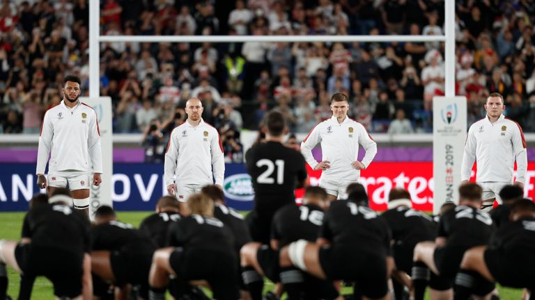 England front up to the Haka