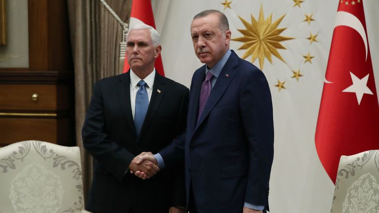 Mike Pence and Erdogan