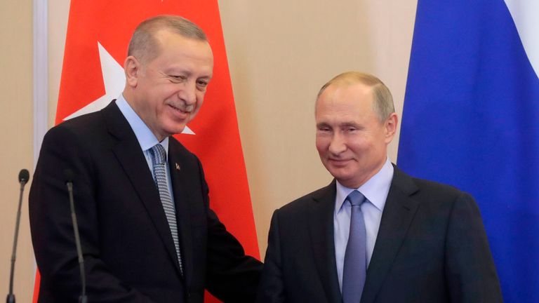 Presidents Erdogan and Putin agreed on a 'safe zone' in northeastern Syria