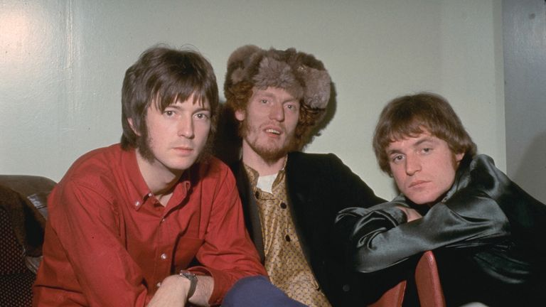 Cream band members Eric Clapton (L), Ginger Baker and Jack Bruce in 1967