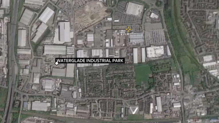 The industrial park is in Grays, Essex