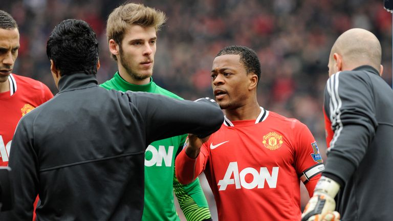 Suarez refused to shake Evra's hand at Old Trafford