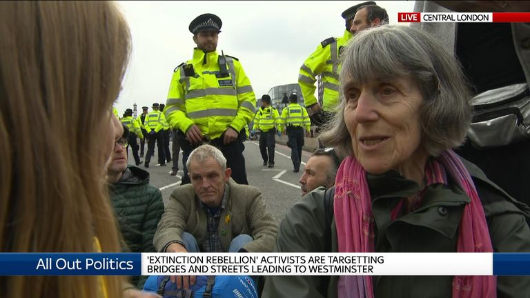 Diana, who did not give her second name, has said she is not worried about being arrested today