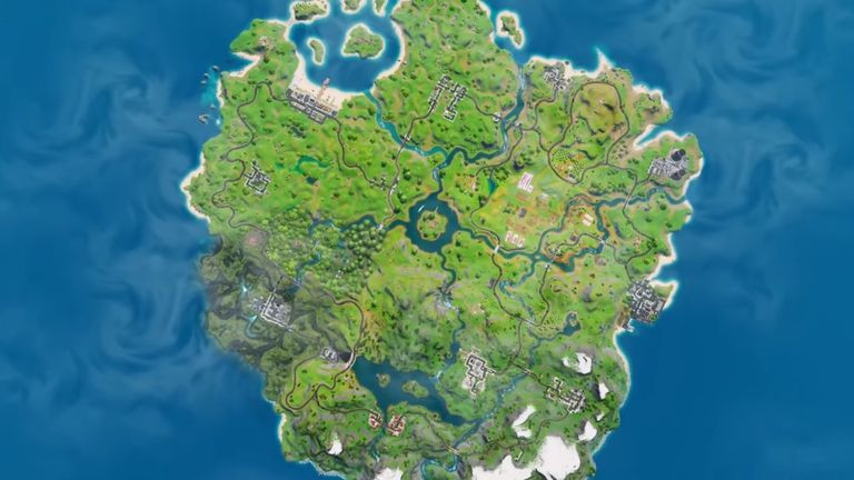 The new Fortnite map has been revealed