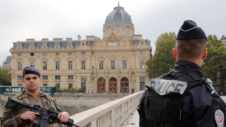 Three police officers among four killed in Paris knife attack