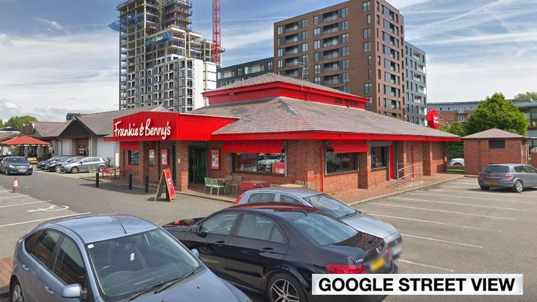 Julie Henning visited the Frankie and Benny's in Salford Quays