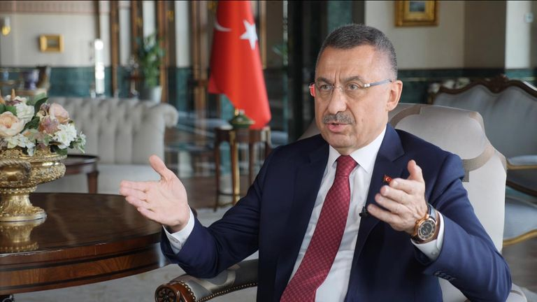 Fuat Oktay, the vice president of Turkey, speaks to Sky News