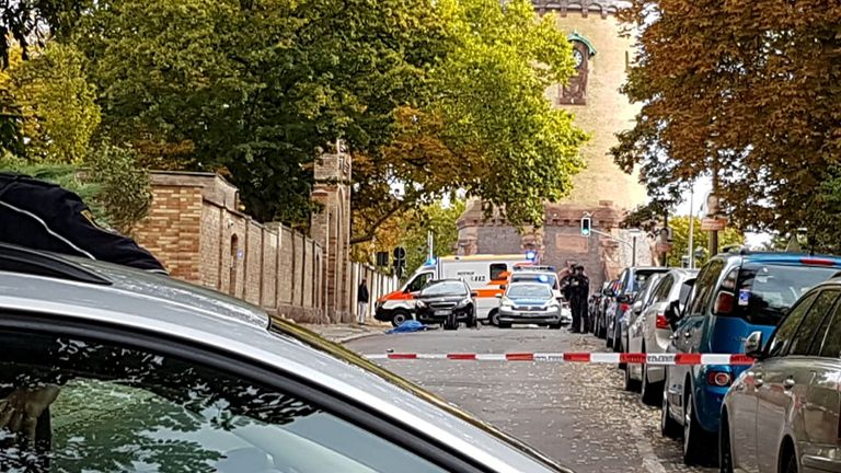Masked gunmen kill two in shootings near German synagogue