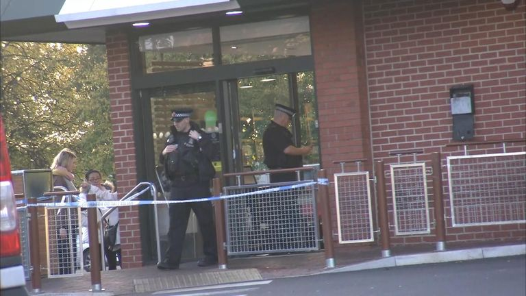 Police placed a cordon for several hours