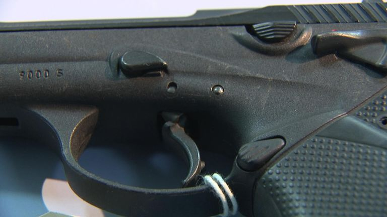 The gun, similar to the one shown, has since been recovered