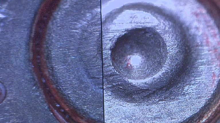 The gun was identified through unique markings in the bullets