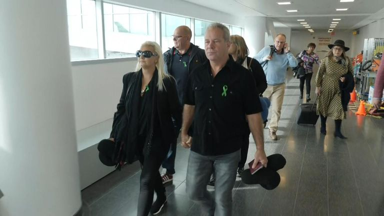 Harry Dunn's parents have flown to the US