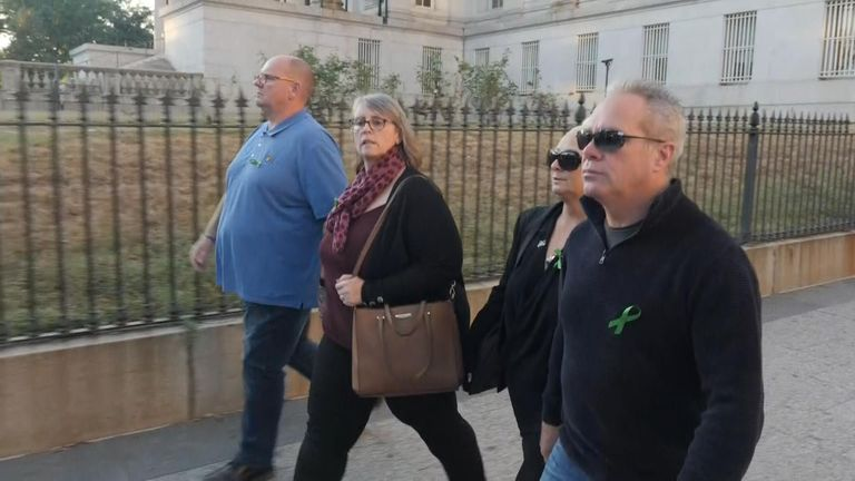 Harry Dunn's parents and their respective partners have travelled to Washington