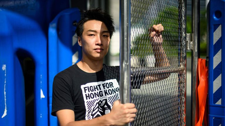 Jimmy Sham is one of the Hong Kong protest leaders